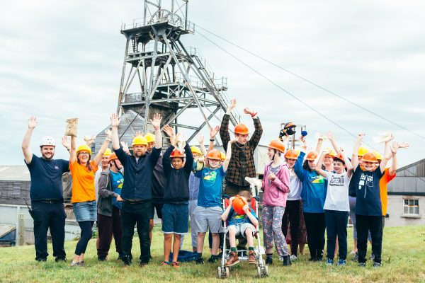 Group visiting Geevor mine in Cornwall