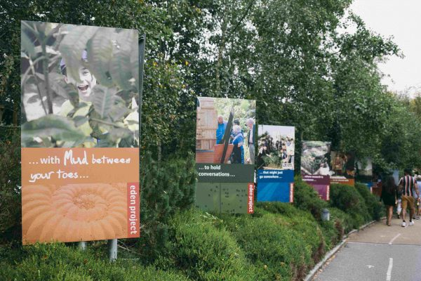 Information banners at Eden Project designed by Sensory Trust
