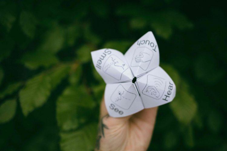 fortune teller sensory nature based activity