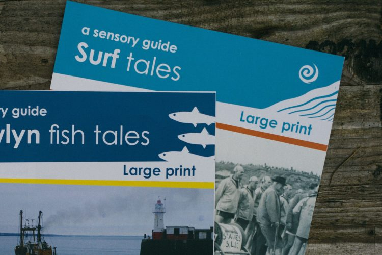 Large print sensory guides to heritage sites in Cornwall