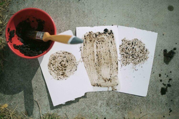 Examples of mud paintings