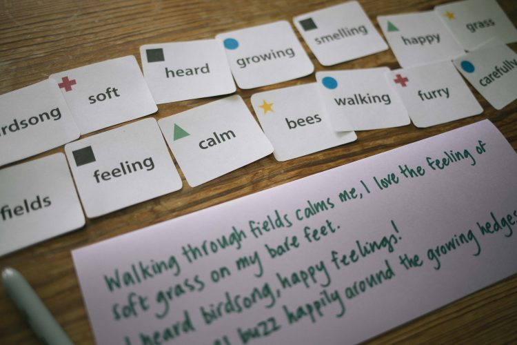 Nature poetry game in use