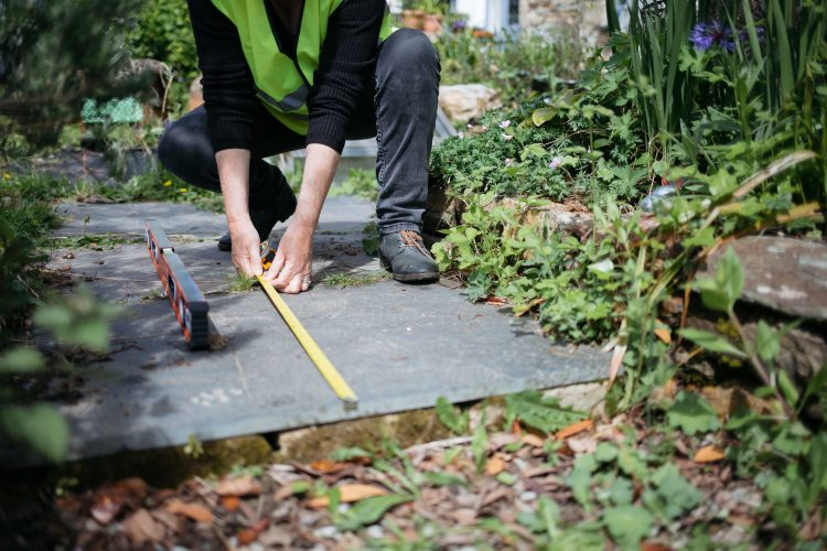 Measuring a path with a tape measure