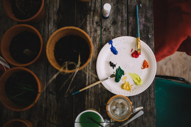 A Sensory Trust pot painting activity