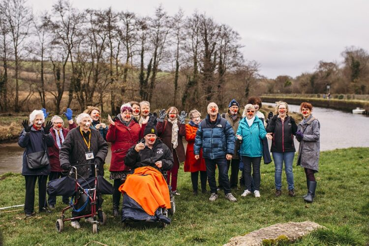 Sensory Trust group the Happy Wanderers group picture by river Fowey