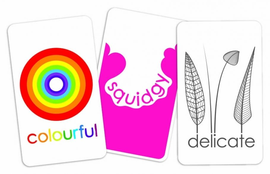 three example cards from gofindit too game by Sensory Trust